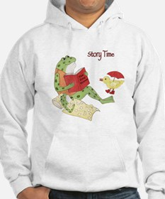Frogs Reading - Story Time Hoodie
