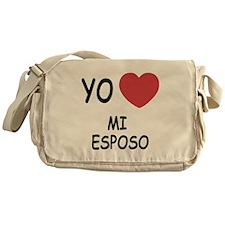 yo amo mi esposo Messenger Bag