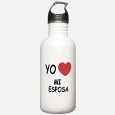 yo amo mi esposa Water Bottle