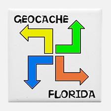 Geocache Florida Tile Coaster