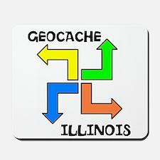 Geocache Illinois Mousepad