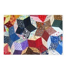 Tumbling Block Patchwork Quilt Postcards (Package