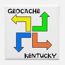 Geocache Kentucky Tile Coaster