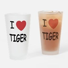 I heart tiger Drinking Glass