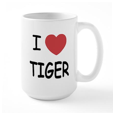 I heart tiger Large Mug
