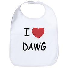 I heart dawg Bib