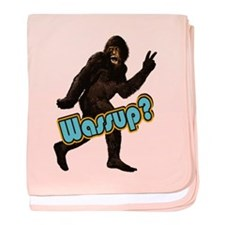 Bigfoot Yeti Sasquatch Wassup baby blanket