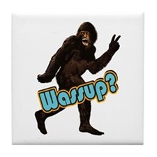 Bigfoot Yeti Sasquatch Wassup Tile Coaster