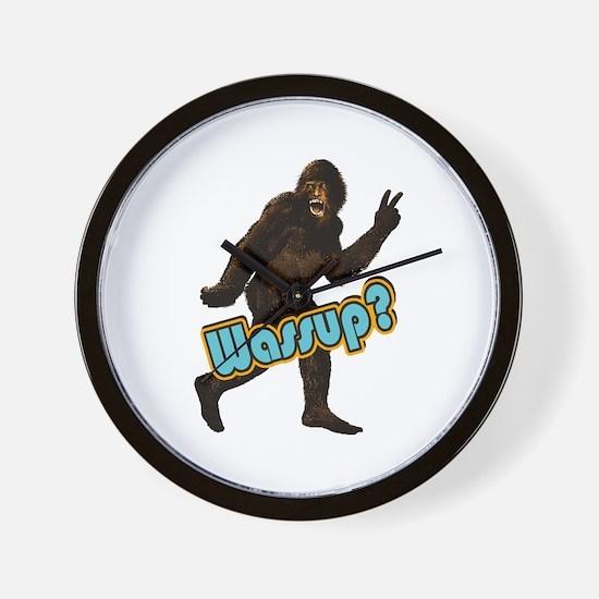 Bigfoot Yeti Sasquatch Wassup Wall Clock