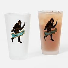 Bigfoot Yeti Sasquatch Wassup Drinking Glass