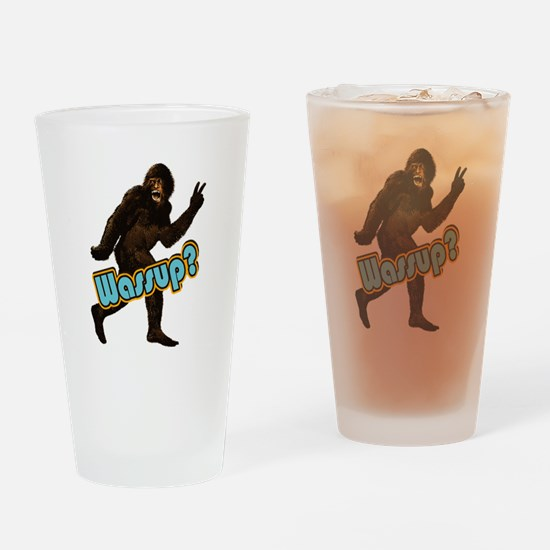 Bigfoot Yeti Sasquatch Wassup Drinking Glass