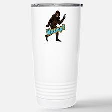 Bigfoot Yeti Sasquatch Wassup Travel Mug