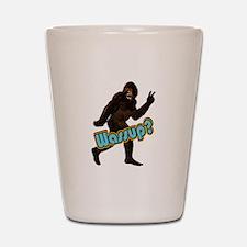 Bigfoot Yeti Sasquatch Wassup Shot Glass