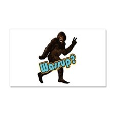 Bigfoot Yeti Sasquatch Wassup Car Magnet 20 x 12