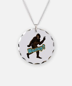 Bigfoot Yeti Sasquatch Wassup Necklace
