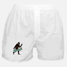 Bigfoot Yeti Sasquatch Wassup Boxer Shorts