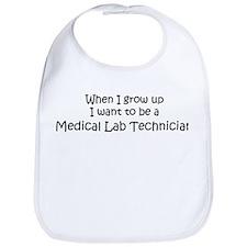 Grow Up Medical Lab Technicia Bib