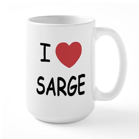 I heart sarge Large Mug