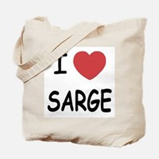 I heart sarge Tote Bag