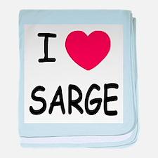 I heart sarge baby blanket