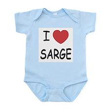 I heart sarge Infant Bodysuit