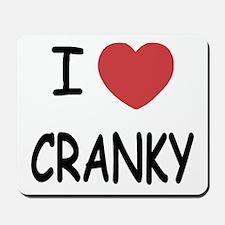 I heart cranky Mousepad