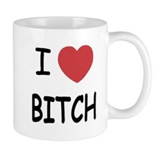 I heart bitch Mug