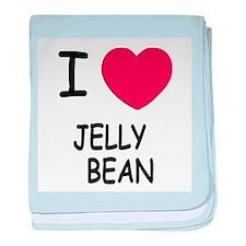 I heart jellybean baby blanket