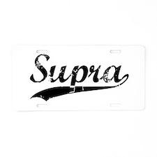 SUPRA Aluminum License Plate