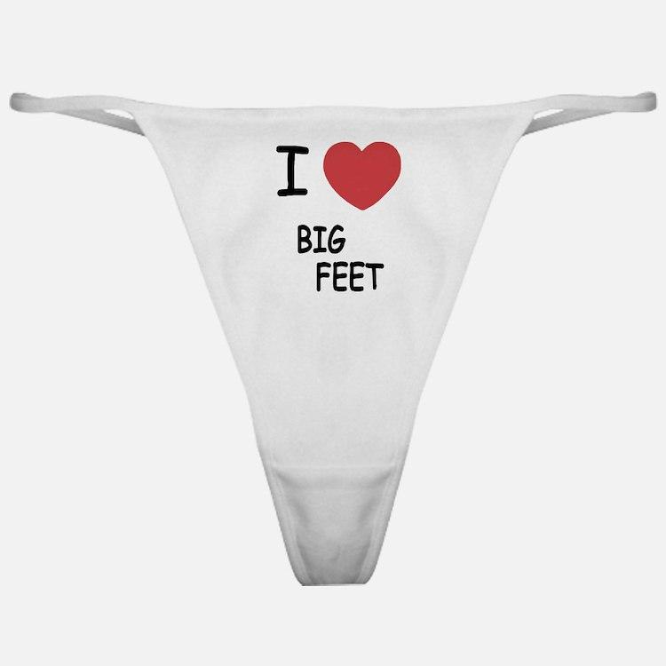 I heart big feet Classic Thong