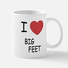 I heart big feet Mug