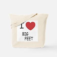 I heart big feet Tote Bag