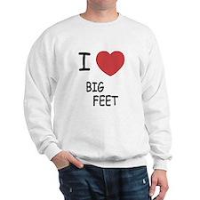 I heart big feet Sweatshirt