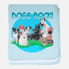 Dogs Rock baby blanket