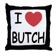 I heart butch Throw Pillow