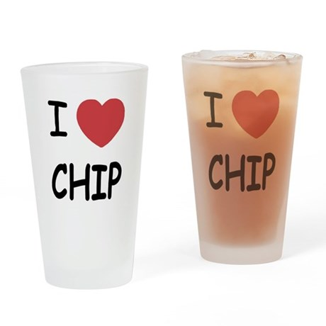 I heart chip Drinking Glass