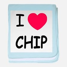 I heart chip baby blanket