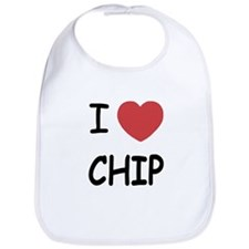 I heart chip Bib