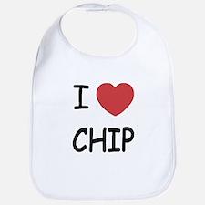 I heart chip Bib