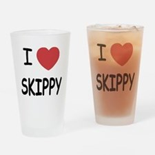 I heart skippy Drinking Glass