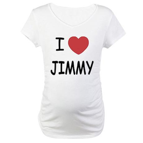 I heart jimmy Maternity T-Shirt