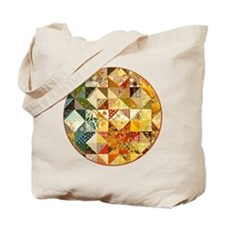 Fun Patchwork Quilt Tote Bag