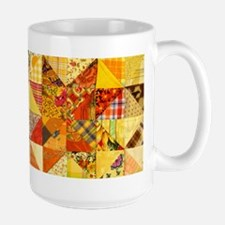 Fun Patchwork Quilt Ceramic Mugs