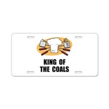 King Of Coals Aluminum License Plate