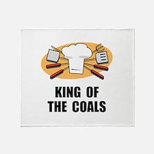 King Of Coals Throw Blanket