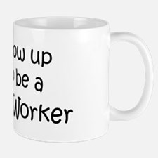 Grow Up Childcare Worker Mug