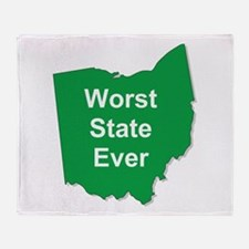 Cute Worst state ever Throw Blanket