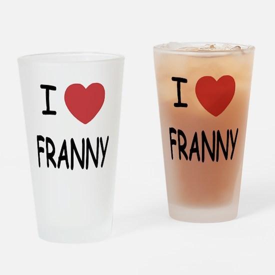 I heart franny Drinking Glass