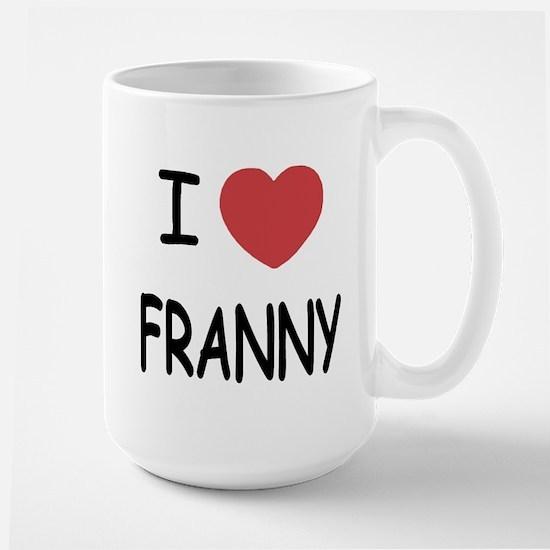I heart franny Large Mug