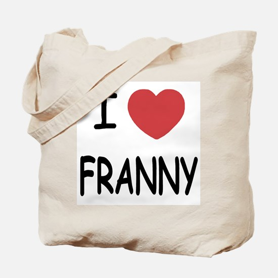 I heart franny Tote Bag